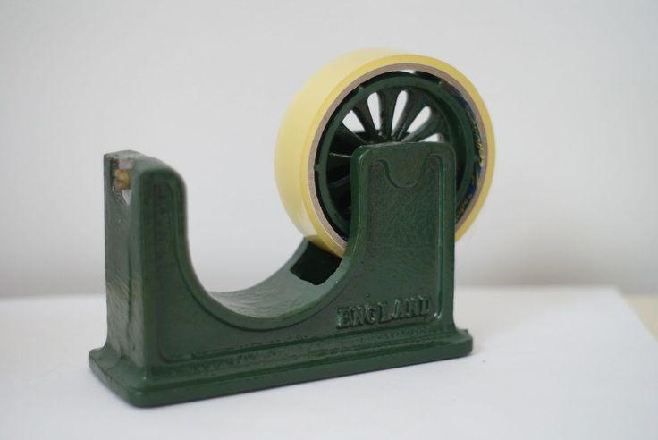 VICTOR SELLOTAPE DISPENSER CAST IRON DESIGNED BY ROBERT WELCH   eBay