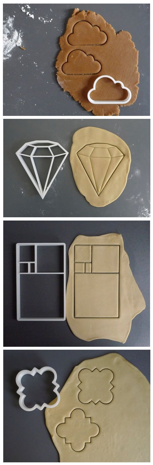 Geek cookie cutters 3d printed. Something fun to make with the kids on rainy summer days.                                                                                                                                                                                 More