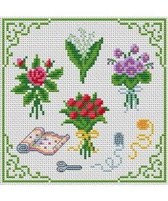 Seasonal Bouquet. Tons of FREE CROSS-SITCH PATTERNS at this site: just found a site that has really easy to download embroidery patterns for free. It's http://club-point-de-croix.com/?code_avantage=CWcplRsmji  Plus, if you click on this link, http://club-point-de-croix.com/?code_avantage=CWcplRsmji  , you'll automatically receive a gift when you subscribe. I use this site all the time; there are hundreds of all different types of patterns, and there are new patterns added everyday.