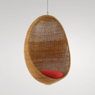 Nanna Ditzel: Hanging Chair, 1959 Made by R Wengler. Cane and bamboo