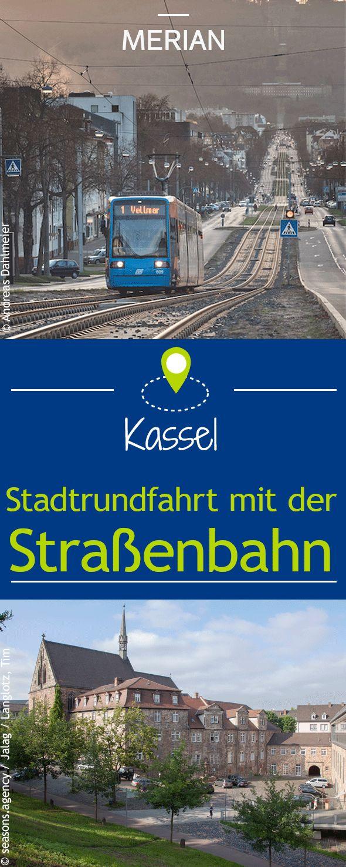 Eine Stadtrundfahrt für knapp drei Euro: Die Linie 1 der Straßenbahn fährt in 45 Minuten an den größten Sehenswürdigkeiten Kassels vorbei.