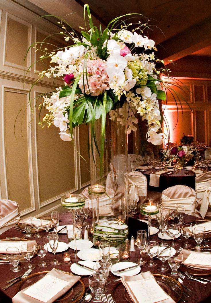 Cardinal Ballroom tall & traditional arrangement