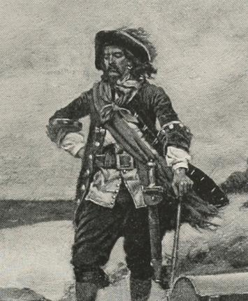 Captain William Kidd:  Captain William Kidd (1645-1701). Captain Kidd had a license from Lord Bellomont, the governor of New England and New York, and King William III of England to hunt down pirates and capture French ships.