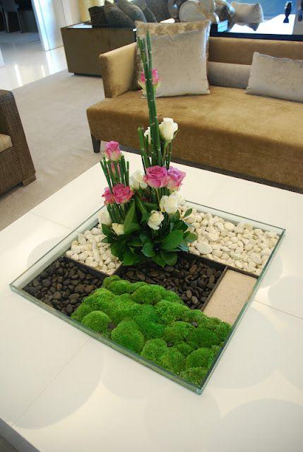 linda ideia de mesa para plantar Koldo Esparza: UN JARDIN JAPONAIS DE ROSES PÂLES.