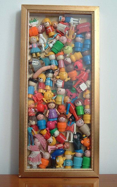 collection in glass frame