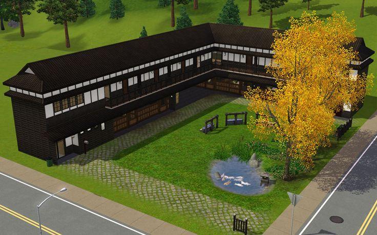 """Mod The Sims - Japanese style house """"Horse barn"""""""