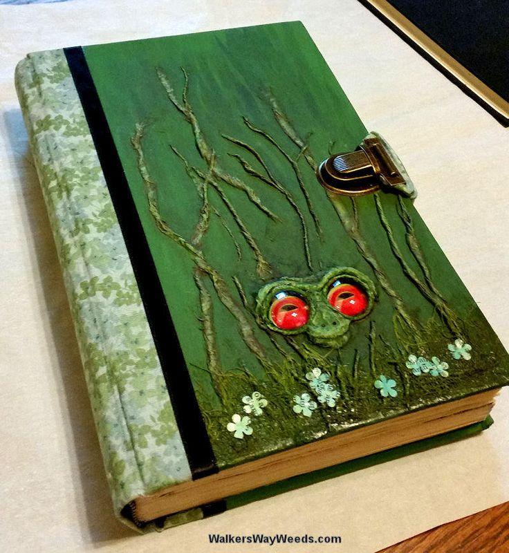 Garden Grimoire-Garden Planner-Altered Book-handmade from recycled materials-OOAK by WalkersWayWeeds on Etsy