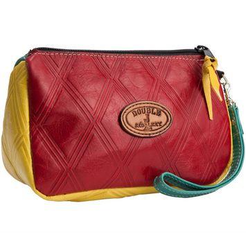 Woven Teal Front Double J Saddlery Makeup Bag