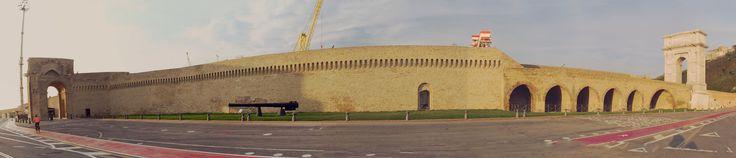 """https://flic.kr/p/CyuPEb   Ancona, Marche, Italy - Harbor """"Corridore del Porto"""" between Traiano Arch and Clementino Arch -sticht by Gianni Del Bufalo CC BY-NC-SA   IMG_1118_31stitch"""