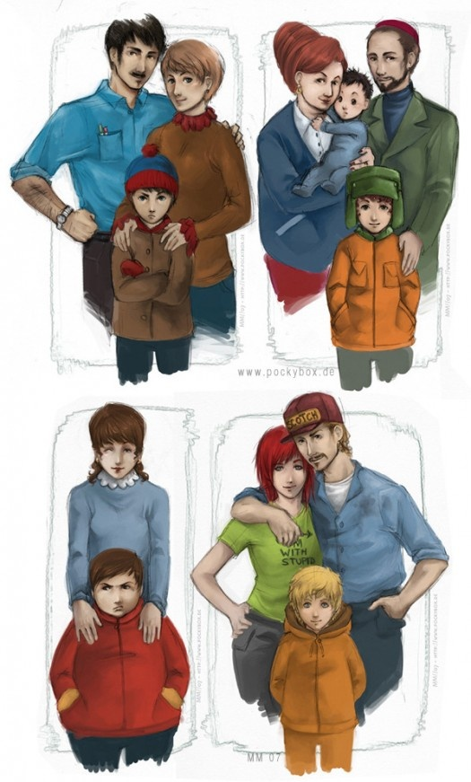 Realistic South Park... KENNY WHY ISN'T YOUR HOOD UP?! The McCormick's Y U NO HAVE SMUDGES ON YOUR FACE?!  Ike.... Y U SO CUTE!?  I think this drawing is freaking amazing :D
