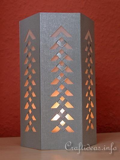 Artesanía de Navidad - Arte de papel - decoraciones navideñas - Papel Tabla Linterna
