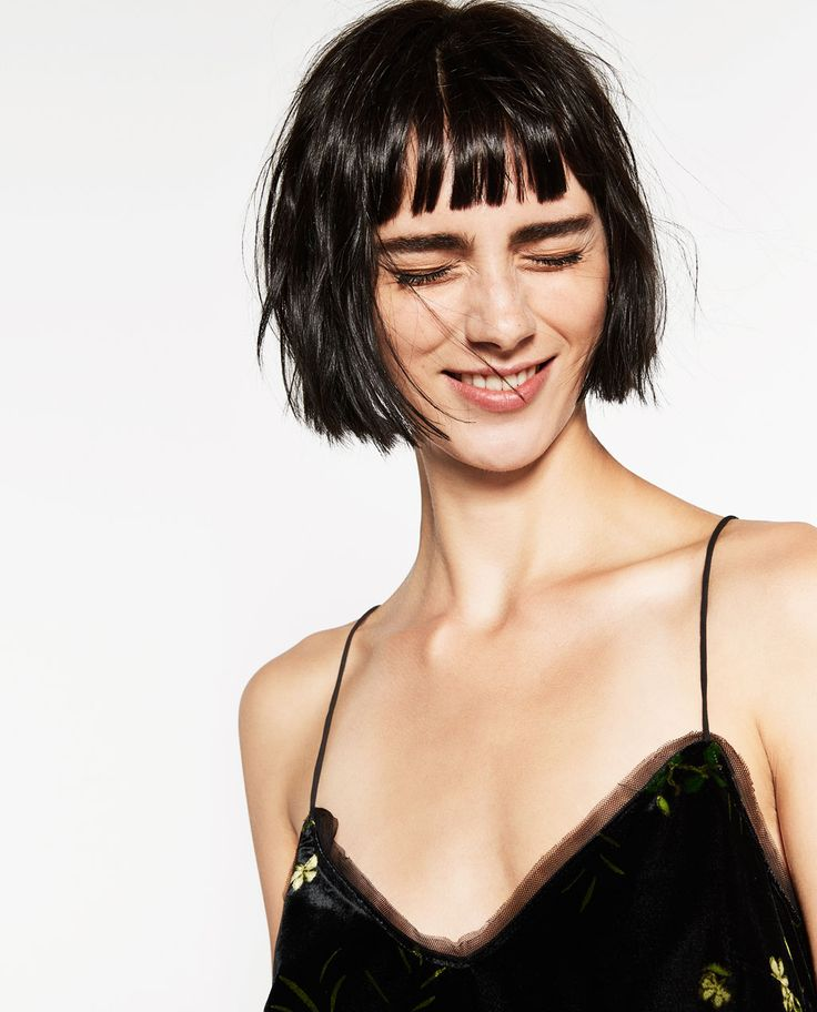Image 2 of PRINTED VELVET CAMISOLE TOP from Zara