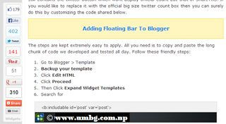 10 Amazing Blogger Tutorials for Adding Social Sharing Widgets to your Blog