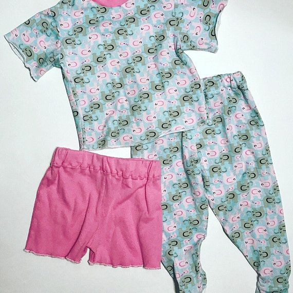 Footed Pajama Pants Sleepwear Cotton Lycra Footie Pants Set