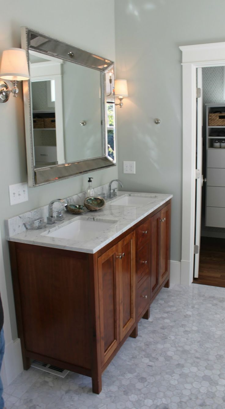 Bathroom Mirror Perfection Dream Home Again Pinterest Auction Double Sinks And Vanities