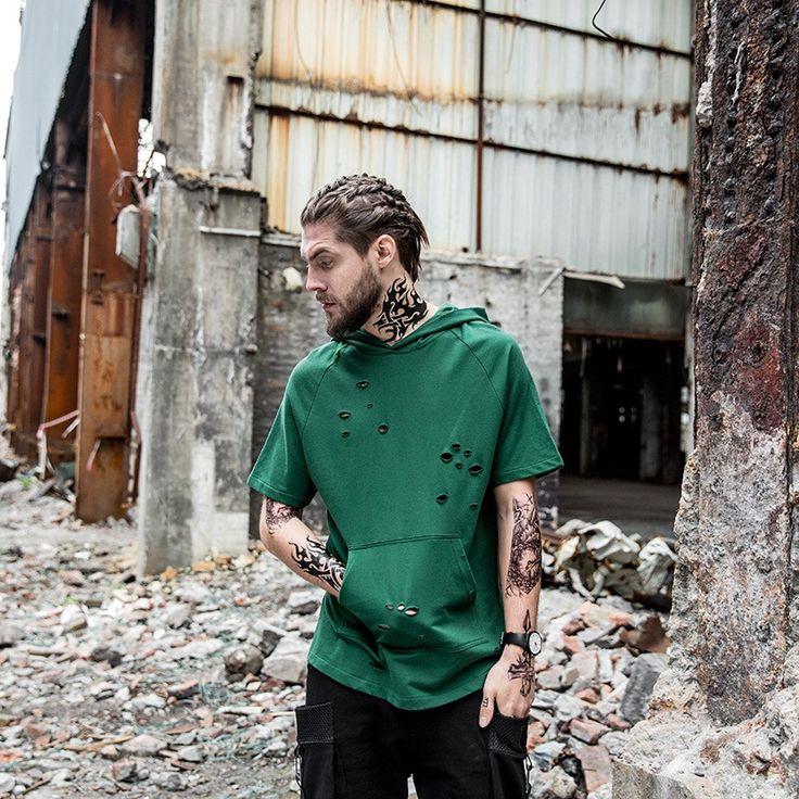 >> Click to Buy << Hip hop fashion Drawstring hoodie Kanye West pullover men hoodies short sleeve hooded streetwear sweatshirt moletom masculino #Affiliate