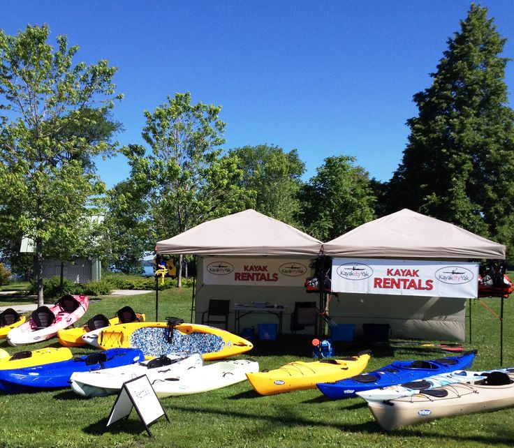 Tudhope Park, Orillia, ON.....Kayak-ity-Yak offers kayak rentals, lessons, & guided tours