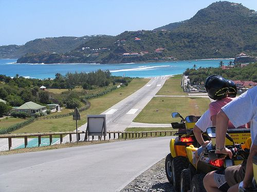ATV-ing and witnessing planes land in St. Barths airport #stbarts #airport #travel Flickr Search: st barths airport   Flickr - Photo Sharing!