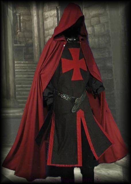 Medieval Templar Knight Crusader Surcoat Cloak Reenactment SCA Larp   eBay