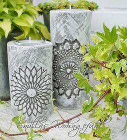 Smillas Wohngefühl: DIY: concrete candle holder / Kerzenständer aus Zement