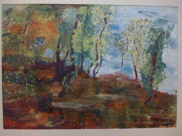 my first painting - Grigorescu inspiration
