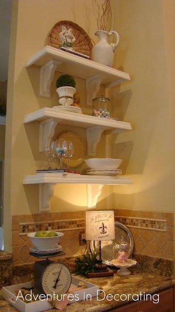 ShelvingKitchens Shelves, Beautiful Kitchens, Kitchen Shelves, Decorating Blogs, Shelves Tutorials, Crafty Diy, Diy Shelves, Cafes Shelves, Decor Blog