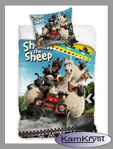 Kolejna propozycja pościeli dla najmłodszych - Pościel z barankiem Shaun - rozmiar pościeli 160x200 100% bawełna