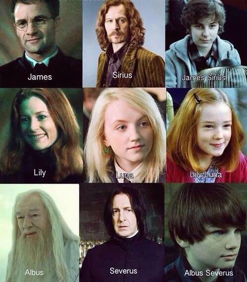 This is very cool, but not one Weasley family name ...  This is very co...