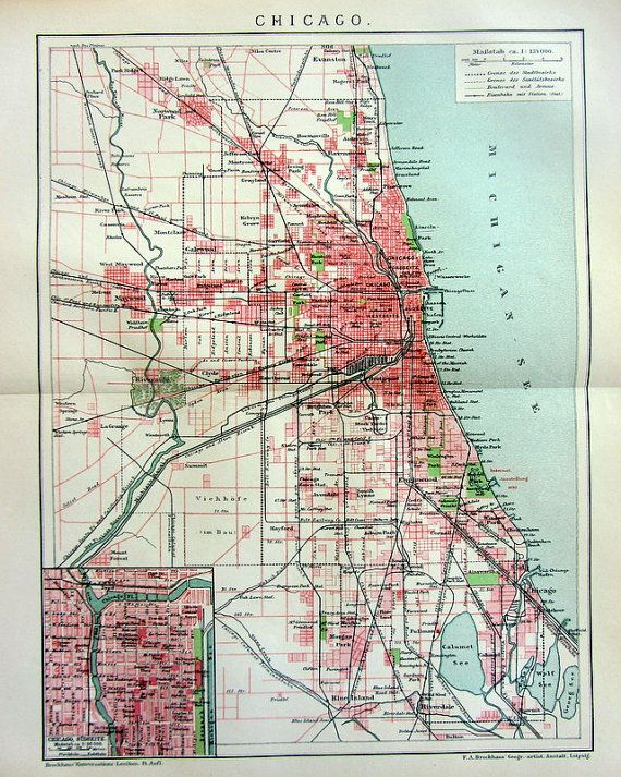 14 best antique chicago maps images on Pinterest Chicago map