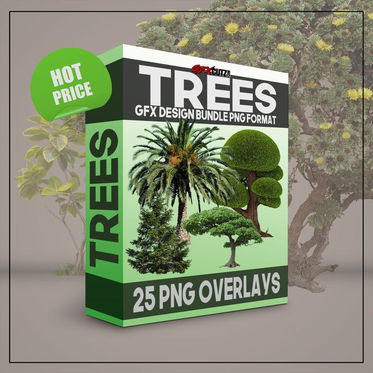 "Trees GFX Design Bundle PNG Format - No Background Images  25 Separate Files ""Butterflies GFX Cutz Bundle"". (Over 100+ Images)  (Delivered in a PNG format ( meaning with no background).   All 25 Files are already cut out and ready to use. After your purchase, you will be sent a Zip file to download and save. be sure you save them as PNG files... So the transparent background remains transparent."