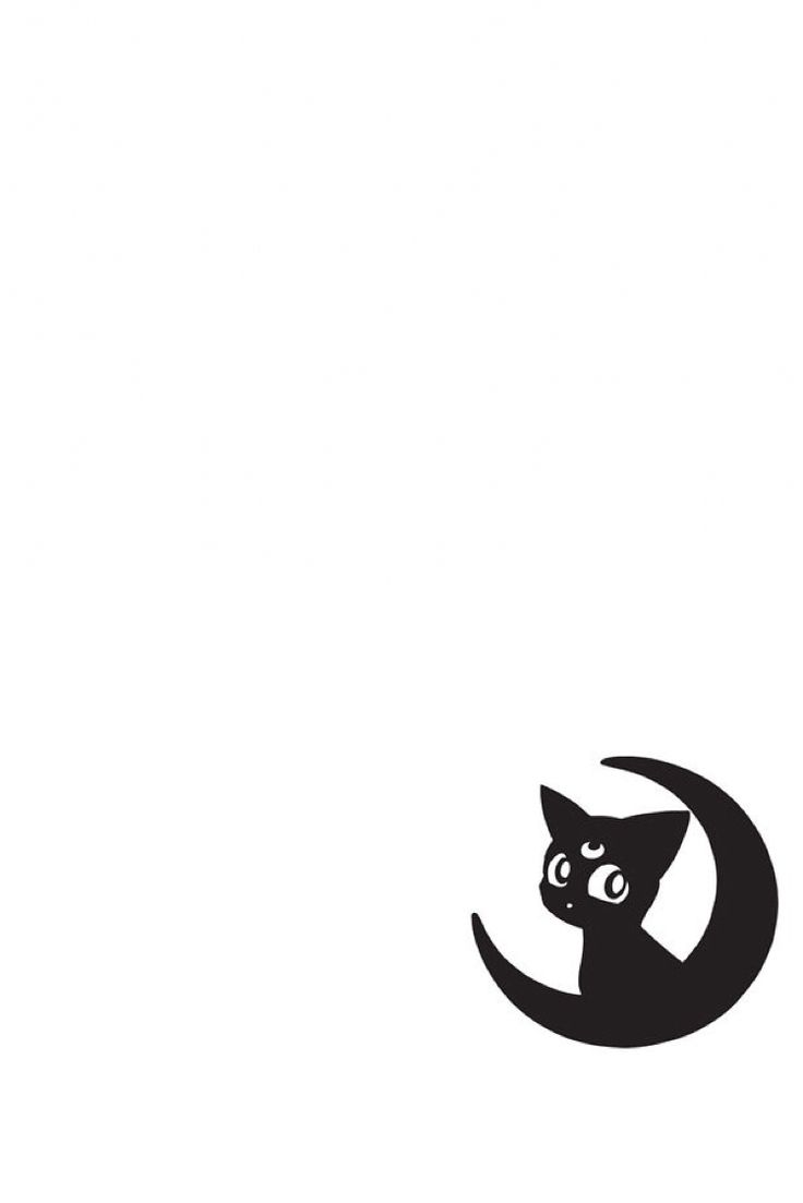 Tumblr iphone wallpaper white - Sailor Moon Luna Wallpaper Made Originally For Iphone 6