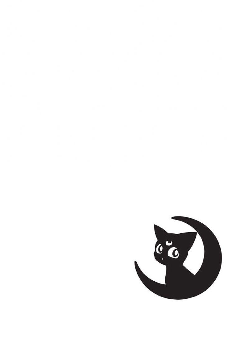 Sailor Moon-Luna wallpaper I made for my iPhone 6.                                                                                                                                                      Mais