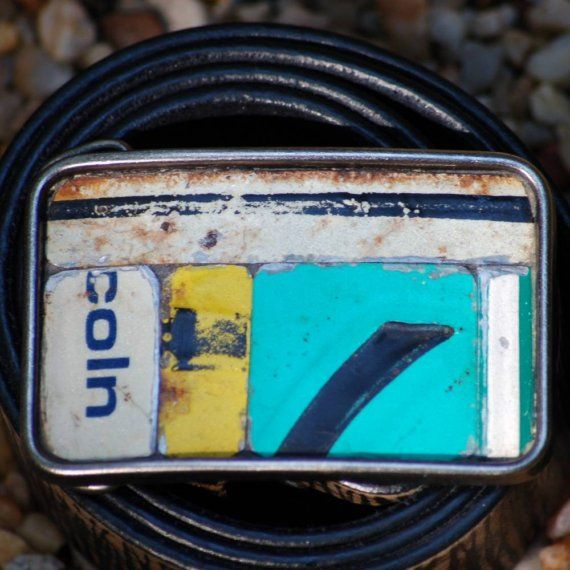 LICENSE PLATE BUCKLE  by randitan on Etsy