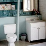 17 best images about happy bathrooms on pinterest for Rental bathroom ideas