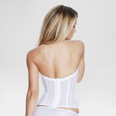 Dominique Women's Lace Corset Bridal Bra #8949 - White 46DD