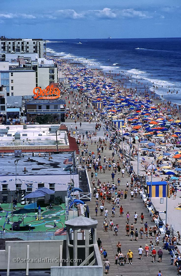 Rehoboth Beach Boardwalk, photographed by David Koster of Portraits In The Sand