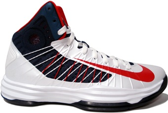 August 2012 Cheap Lunar Hyperdunk 2012 Olympic USA Home Navy White Team Red.