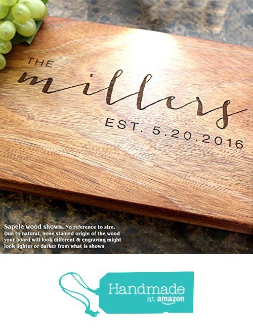 Contemporary Design Personalized Engraved Cutting Board- Wedding Gift, Anniversary Gifts, Housewarming Gift,Birthday Gift, Corporate Gift, Award, Promotion. #025 from Straga Cutting Boards https://www.amazon.com/dp/B01LYC3R7E/ref=hnd_sw_r_pi_dp_5tjeyb8J3M2GH #handmadeatamazon