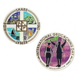 Special Edition - Internatioanl Geocaching Day Geocoin grab one today @ratherbecaching.ca