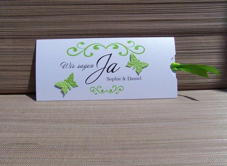 Einladungskarte Schmetterlinge von Kartenmanufaktur Arndt auf DaWanda.com