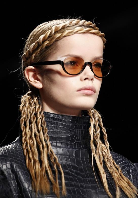 The hair at Fendi