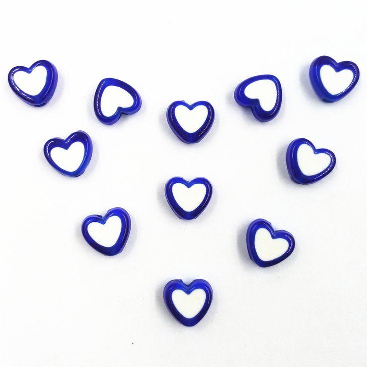 Baru 150 Piece/Lot manik-manik akrilik jantung, Pesona liontin manik, Cocok gelang pembuatan perhiasan persediaan hadiah