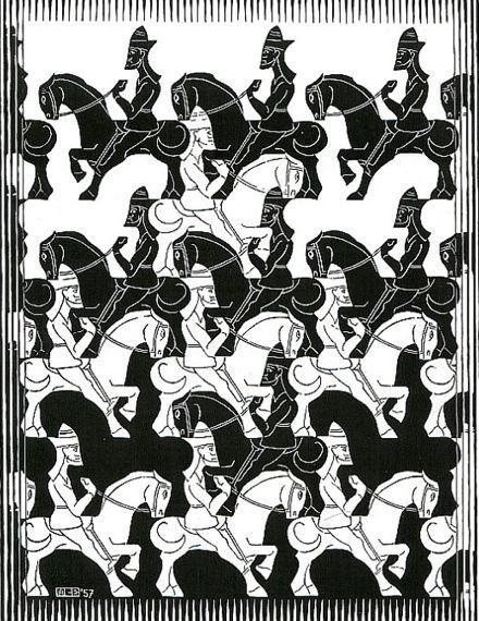 witte paarden en zwarte paarden illusie Esscher