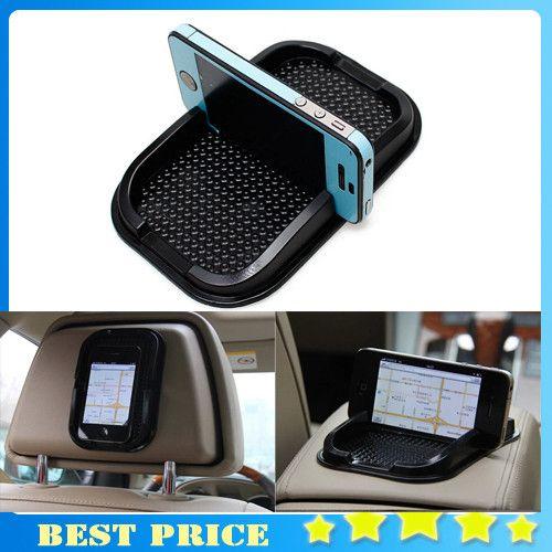 Black Car Dashboard Sticky Pad Mat Anti Non Slip Gadget Mobile Phone GPS Holder Interior Items Accessories 0807