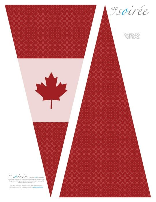 Canada Day FREEBIE!!! Free Canada Day Party Printables! Fabulous Party Printables & Inspiration! www.mySoiree.ca #PCCanadaDay