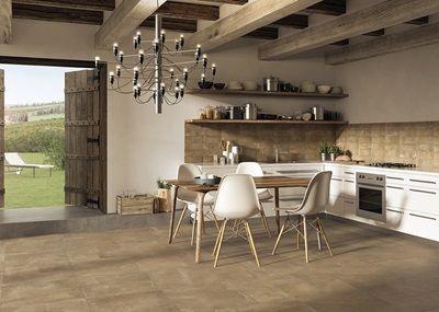 Le Crete je modulární, víceformátová dlažba obsahující formáty 60x60 cm, 30x60 cm, 30x30 cm, 10x30 cm, 45x45 cm, 225,x45 cm a 22,5x22,5 cm. Tato série vsobě skrývá klasický italský styl snejmodernější technologií digitálního tisku. Dlažba se