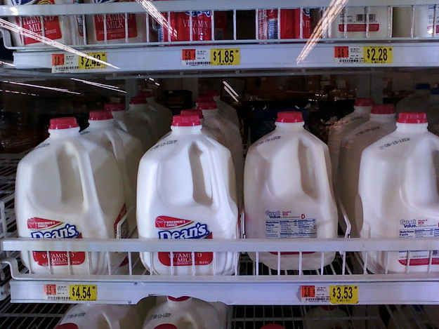 Most commercial milk is made by combining, heating, homogenizing, and repackaging the milk of hundreds of cows. | 14 Things You Really Don't Want To Know About Your Groceries