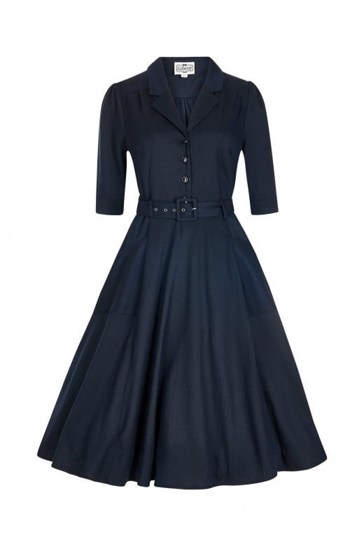 Collectif Vintage Alexandria Flared Dress - Collectif Vintage from Collectif UK