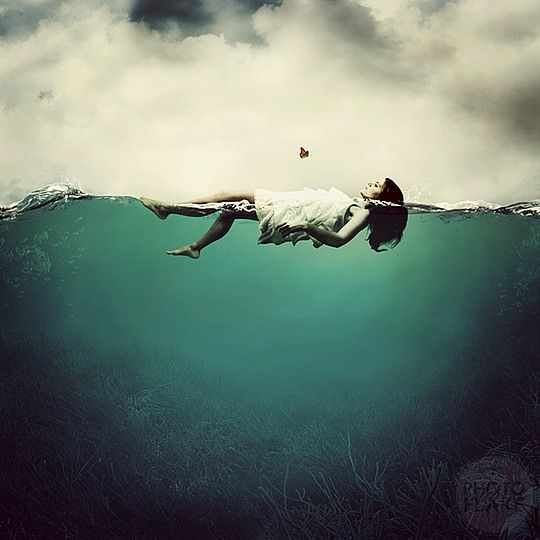 Photo Manipulations by Anja Stiegler. This really speaks to me. I love the calmness of floating.