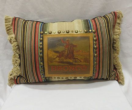 Awesome Double D Ranch Bronco Pillows   Jenny Longhorn